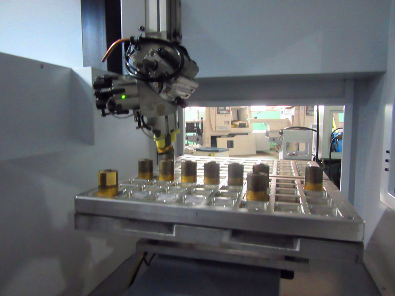 customer case: CNC WITH GANTRY LOADER FOR COPPER PARTS
