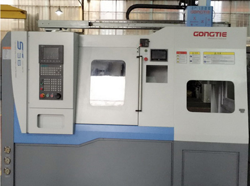 Precision CNC Lathe with Gantry Loader Plus 20 Station Rotary Work Stocker