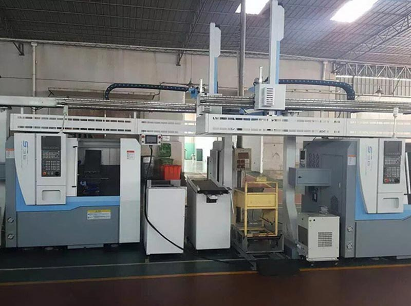 S36 Automatic CNC Lathe with Gantry Loader and Shaft Type Parts Stocking System