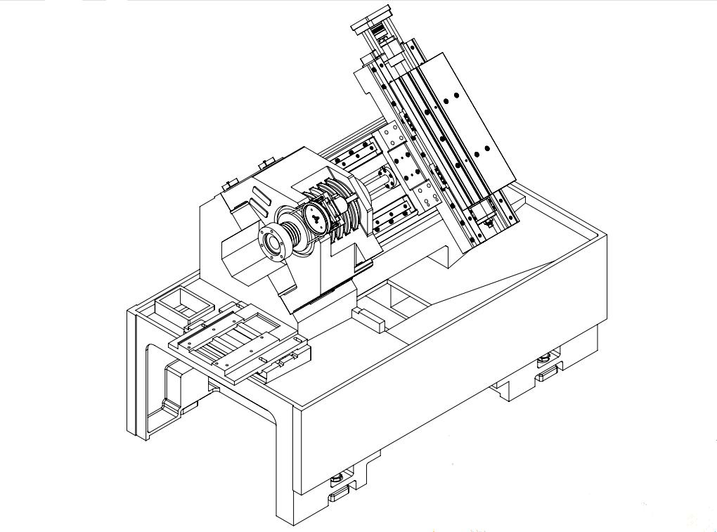 TCK42L SLANT BED CNC IN BLADE ROW