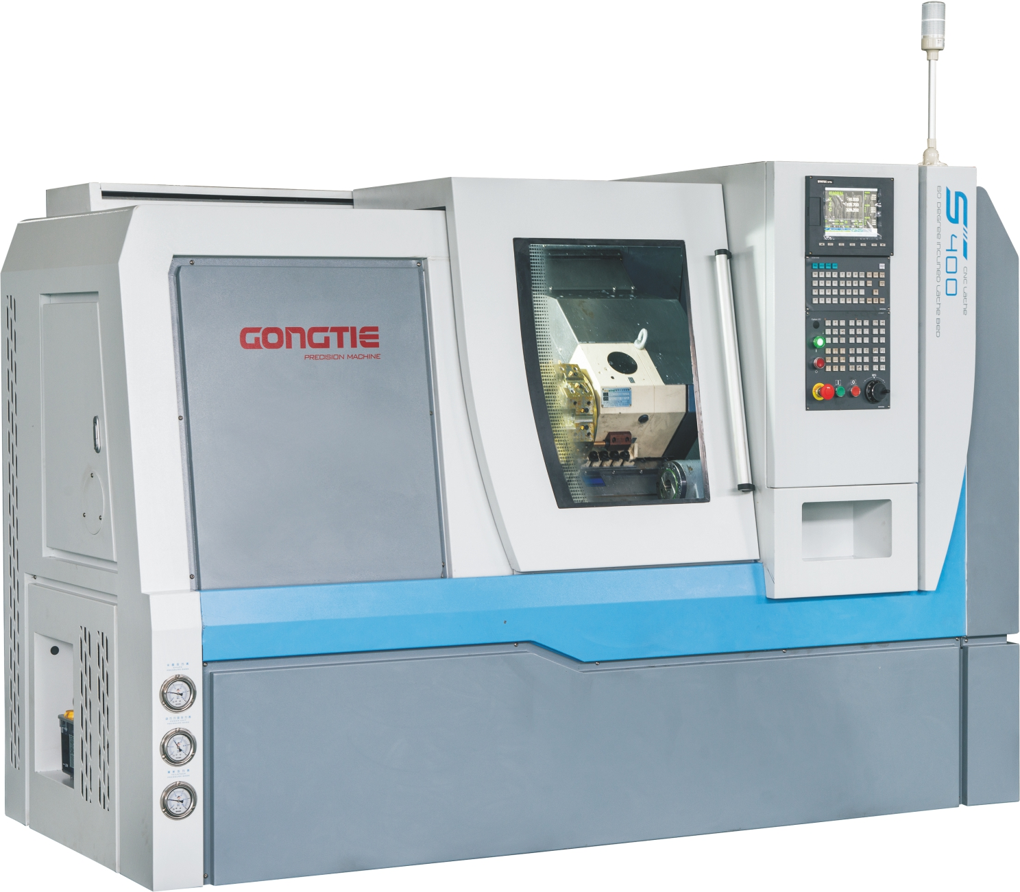 GP340 SERIES CNC LATHE WITH SLANT BED IN TURRET
