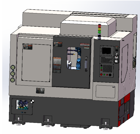 New model flat bed cnc lathe with turret