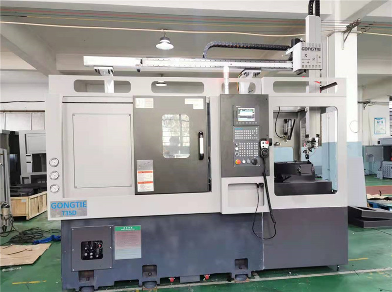 Heavy Cutting lathe  with motor spindle and turret